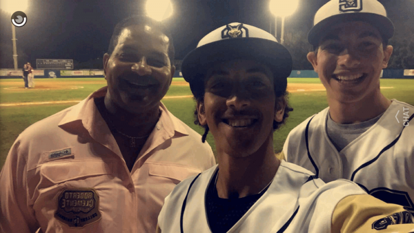 Bobby and Luis Clemente and me after the Championship Game (Photo by Bobby Clemente)