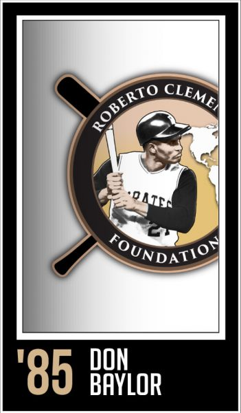 Don Baylor - Roberto Clemente Award Winner