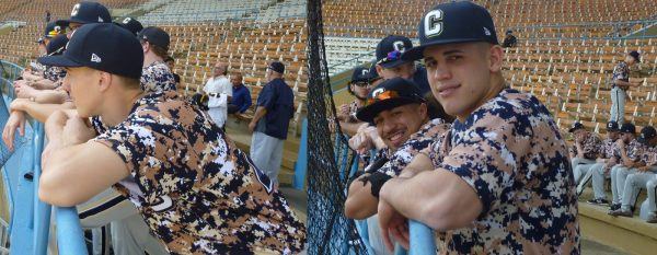 Kirkland Festa, Cristian Cruz (Naguabo, Puerto Rico) and Wilson Matos (Añasco) wait with the team in the stands. (Photos by Fred Saburro)