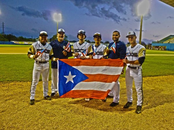 The Puerto Rican natives representing SUNY Canton and their home island. (Photo by Fred Saburro)