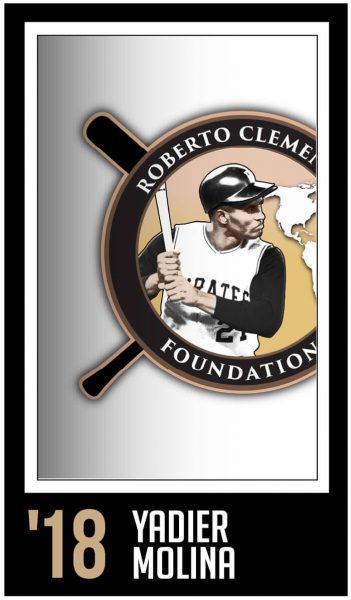 Yadier Molina-Roberto Clemente Award Winner